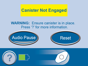 Canister Not Engaged Screen No Links