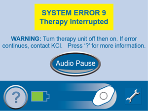 System Error 9 Therapy Interrupted Screen